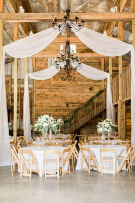 Inside wedding decor at The Barn at Sleepy Hollow
