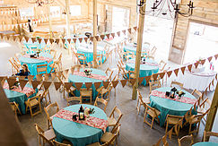 loft view blue tables
