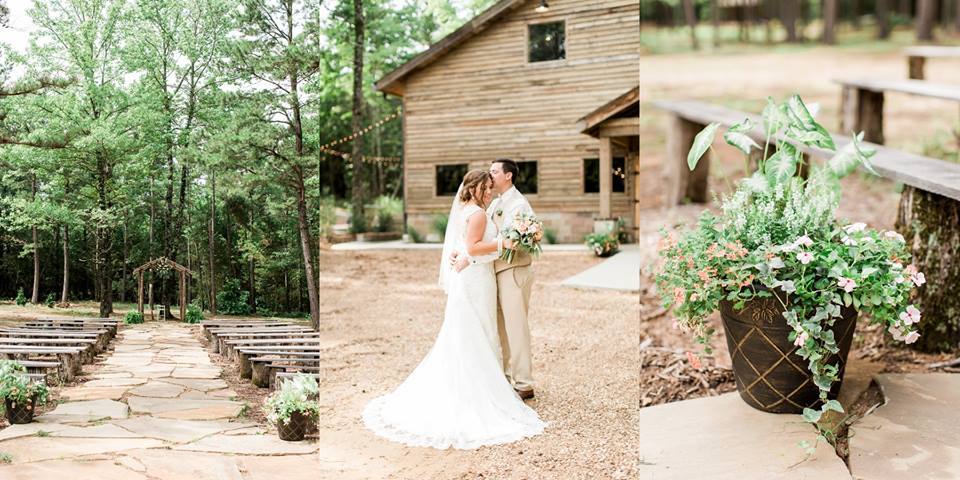 Rustic wedding ceremony at The Barn at Sleepy Hollow